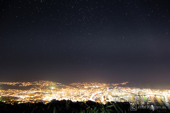 2nd stop as part of the International Dark Sky Week photo project at Mount Victoria Lookout. There was a fair bit of haze above the city limiting overall visibility of the night sky, but a lot more stars could be seen than at our first stop in Courtenay Place. (Mark Gee)