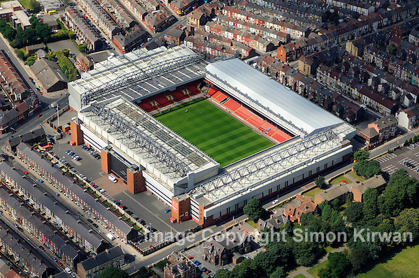 Football grounds from the air Aerial view of Anfield, home of Liverpool FC (Simon Kirwan 2009)
