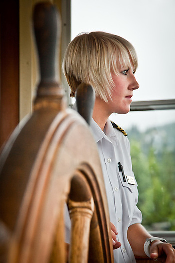 Captain Madi Binkley, Riverboat Discovery Tour, Fairbanks, Alaska (Clark James Mishler)