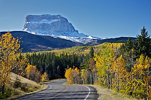 Chief Mountain, Glacier National Park (Daryl Hunter's &quot;The Hole Picture&quot;  Daryl L. Hunter has been photographing the Yellowstone Region since 1987, when he packed up his view camera, Pentex 6X7, and his 35mms and headed to Jackson Hole Wyoming. Besides selling photography Daryl also publ)