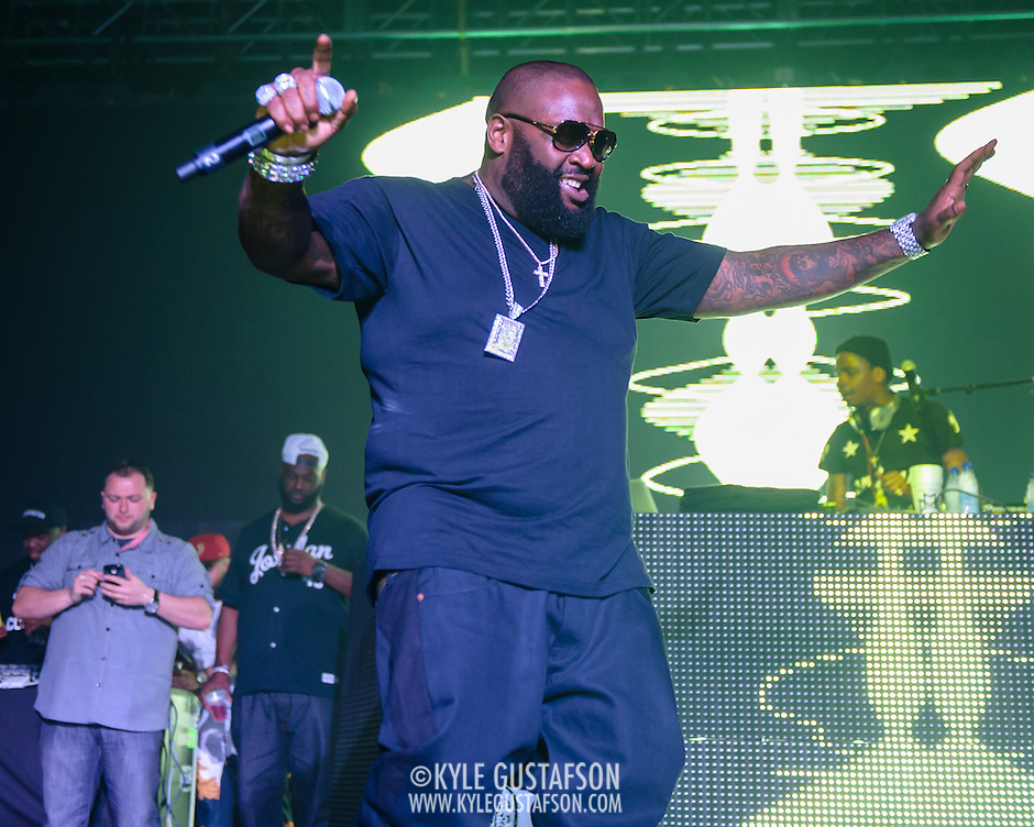 WASHINGTON, DC - April 12th, 2014 - Rapper Rick Ross performs at Echostage in Washington, D.C. Ross released his sixth album, Mastermind, in March.  (Photo by Kyle Gustafson / For The Washington Post) (Kyle Gustafson/For The Washington Post)