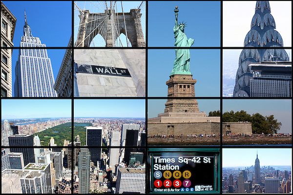 New York City collage of landmarks and tourist destinations (Ian C Whitworth)