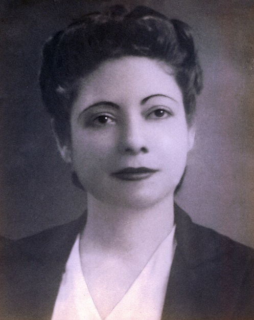 Hilma Contreras, 1941, en Santo. Fotografía de Atilano Sánchez Domingo