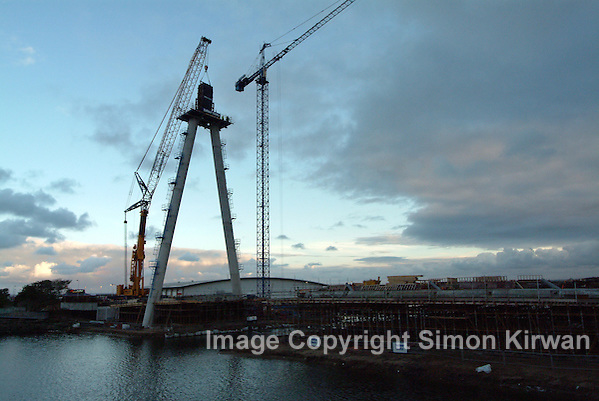 Southport Marine Way Bridge Construction October 2003 - Photo By Simon Kirwan