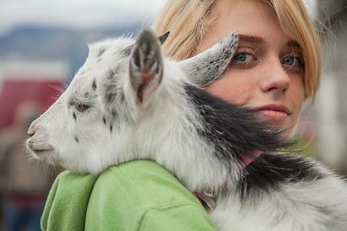 The day before the opening at The Alaska State Fair, Palmer, Alaska (© Clark James Mishler)