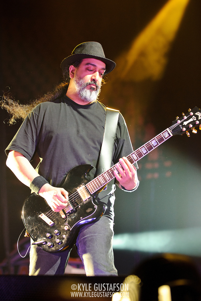 FAIRFAX, VA - July 12th, 2011 - Kim Thayil of reunited grunge heavyweights Soundgarden performs at the Patriot Center in Fairfax, VA. The band reunited last year after a 12 year break and are currently writing new material for an album to be released in 2012.  (Photo by Kyle Gustafson/For The Washington Post) (Photo by Kyle Gustafson / For The Washington Post)