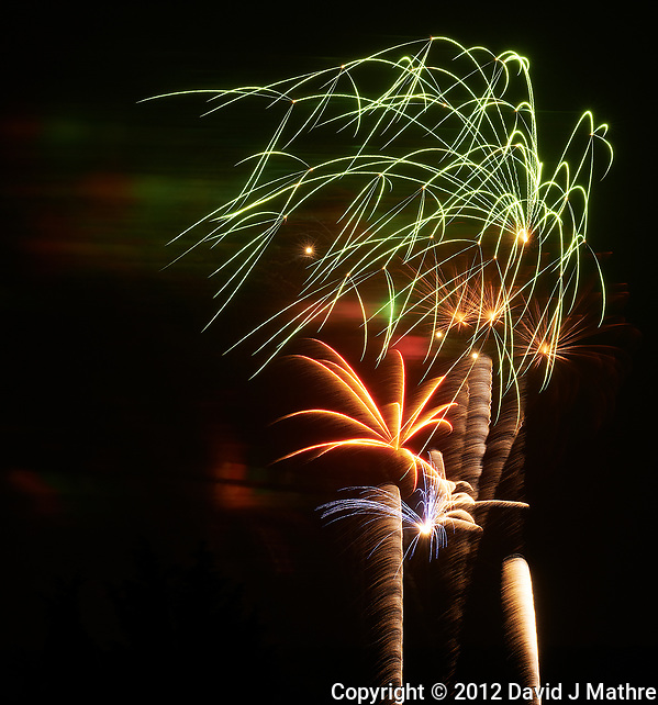 Montgomery Township Fireworks. Image taken with a Nikon D800 camera and 200 mm f/2 lens (ISO 100, 200 mm, f/11, 8 sec). (David J Mathre)