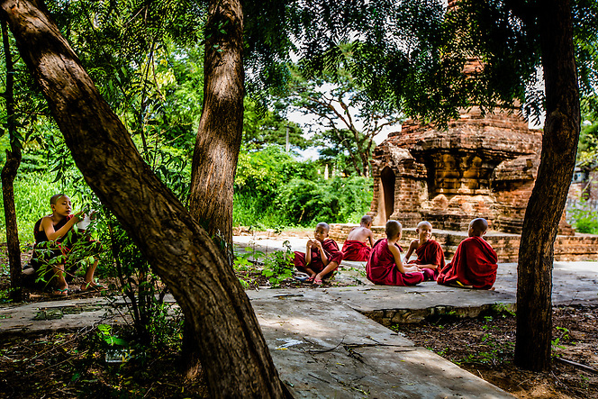 Novice monks study, Bagan, Myanmar (Quinn Ryan Mattingly)
