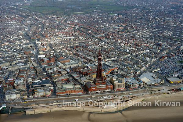 Blackpool Tower, Aerial Coastal Survey 2009. Photo by Simon Kirwan