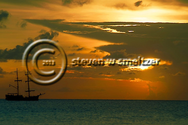 Pirate Ship at Sunset Grand Cayman (Steven Smeltzer)