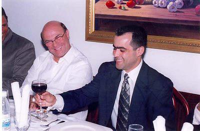 Hipólito Mejía con Luis Eduardo Rodríguez (Eduardito).