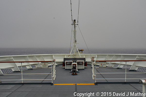 Crossing the Drake Passage on a Cloudy Day. View from the forward deck of the Hurtigruten MS Fram. Image taken with a Leica T camera and 23 mm f/2 lens (ISO 100, 23 mm, f/11, 1/250 sec). (David J Mathre)