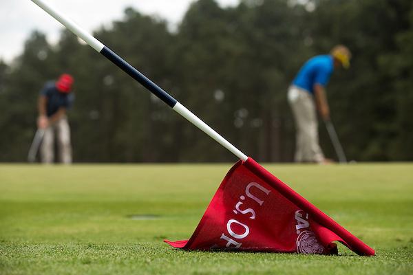 Flag at the 13th hole during a practice round before the 2014 U.S. Open at Pinehurst Resort & C.C. in Village of Pinehurst, N.C. on Monday, June 9, 2014.  (Copyright USGA/Darren Carroll) (Darren Carroll/USGA Museum)
