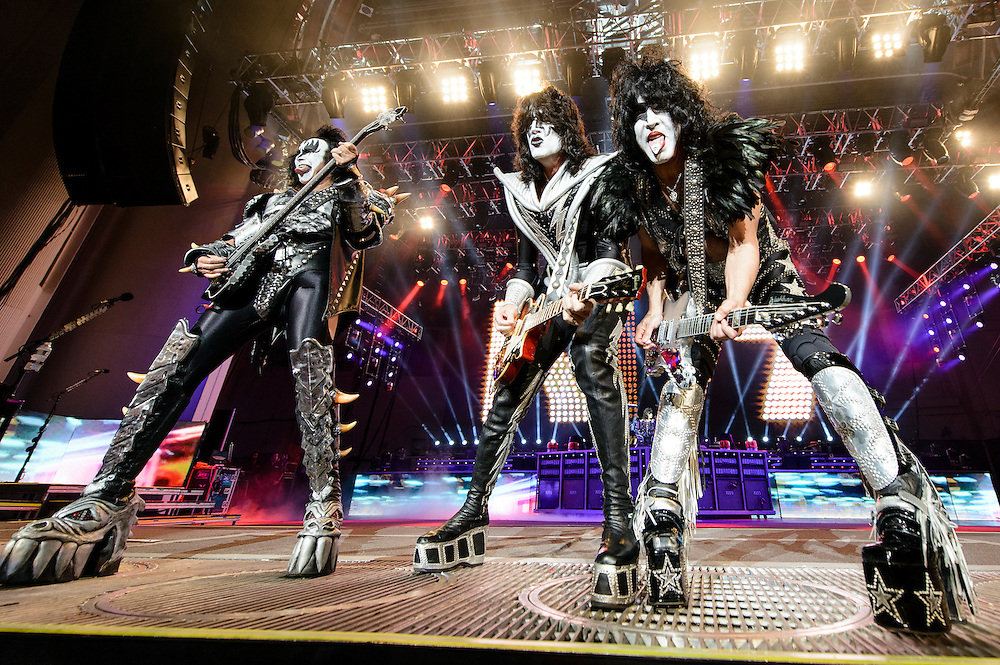 Photos of the glam rock band KISS performing live on 'The Tour' at PNC Bank Arts Center in Homdel, NJ. September 21, 2012. Copyright © 2012 Matthew Eisman. All Rights Reserved. (Matthew Eisman/Photo by Matthew Eisman)