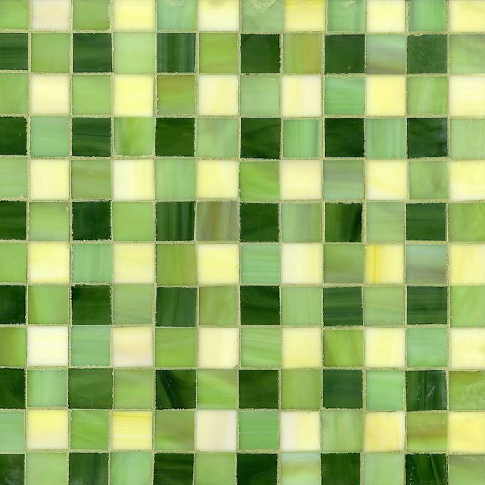 Bonnie Jewel glass mosaic field shown in Citrine, Peridot and Aventurine. (New Ravenna Mosaics 2012)