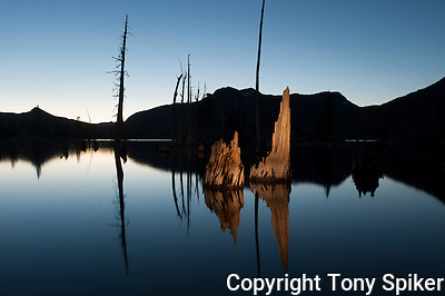 &quot;Lake Aloha Night Reflections 1&quot; - Photograph of Lake Aloha, located in Desolation Wilderness near the South Shore of Lake Tahoe (Tony Spiker)