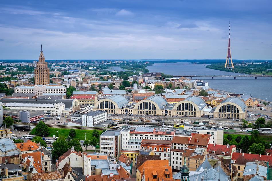 RIGA, LATVIA - CIRCA JUNE 2014: Aerial view of Riga in Latvia (Daniel Korzeniewski)