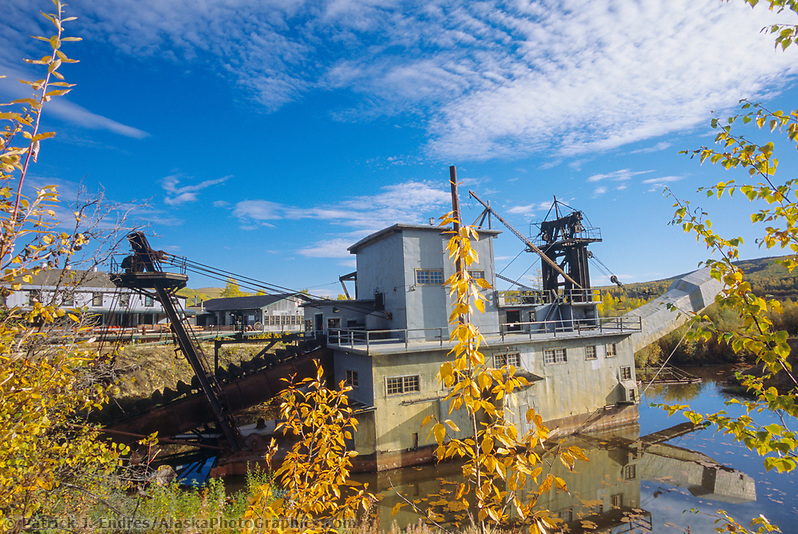 Gold dredge #8, relic gold mining dredge in Fox, near Fairbanks, Alaska (Patrick J. Endres / AlaskaPhotoGraphics.com)