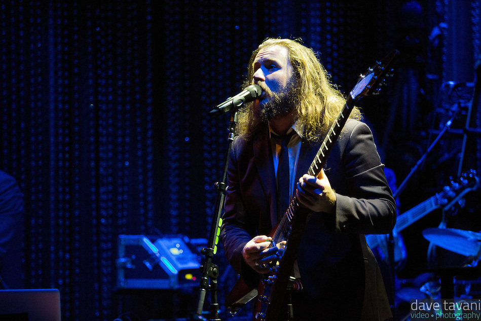 Jim James, a.k.a Yim Yames, performs at Johnny Brenda's in Philadelphia in support of his new solo album, Regions of Light and Sound of God. (Dave Tavani)