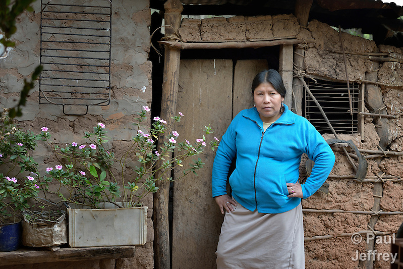 Teresa Galarza is the second in charge of the remote Guarani indigenous village of Kapiguasuti, Bolivia, where she and many of her neighbors have improved their family's nutrition by starting vegetable gardens with assistance from Church World Service. (Paul Jeffrey)