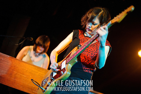 WASHINGTON, D.C. - March 10th, 2011: Mary Timony and Rebecca Cole of WIld Flag perform at the Black Cat in Washington, D.C. The band consists of former members of Sleater-Kinney, Helium and The Minders and will record and release their debut album later this year.   (Photo by Kyle Gustafson/For The Washington Post) (Photo by Kyle Gustafson / For The Washington Post)