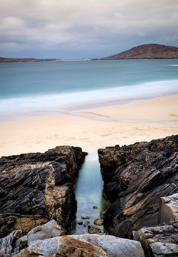 LEWIS AND HARRIS, SCOTLAND - CIRCA APRIL 2016: Cliffs and beaches on the outer islands of Lewis and Harris in Scotland. (Daniel Korzeniewski)