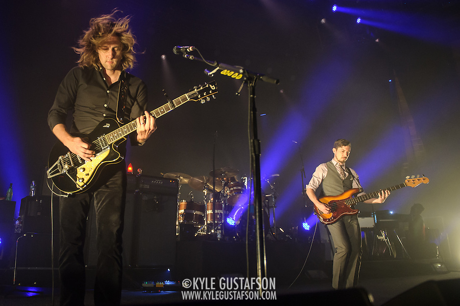 CARL BROEMEL, TOM BLANKENSHIP  of My Morning Jacket perform at Merriweather Post Pavilion in Columbia, MD. (Photo by Kyle Gustafson) (Photo by Kyle Gustafson)
