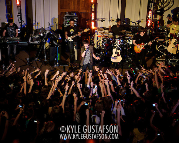 "WASHINGTON, D.C. - April 28th, 2011: Youtube sensation Greyson Chance performs at 6th & I Synagogue in Washington, D.C. Recently signed to eleveneleven Records, run by Ellen DeGeneres, Chance released his debut single ""Waiting Outside The Lines"" in October of 2010.  (Photo by Kyle Gustafson/For The Washington Post) (Photo by Kyle Gustafson / For The Washington Post)"