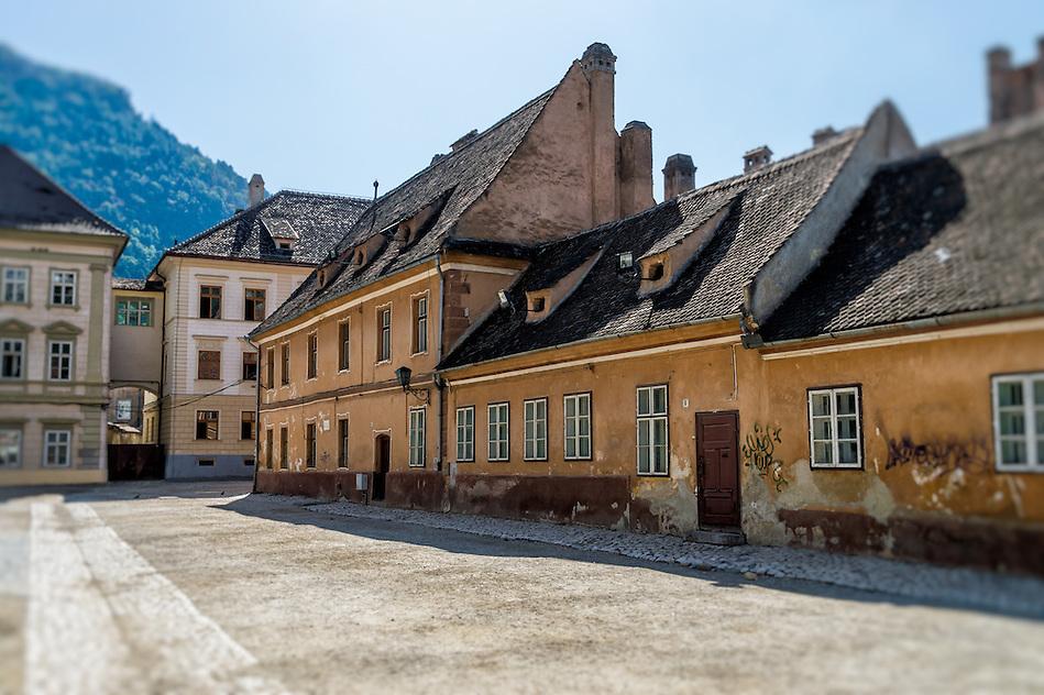 View of Curtea Honterus Street in the town of Brasov in Romania. (Daniel Korzeniewski)
