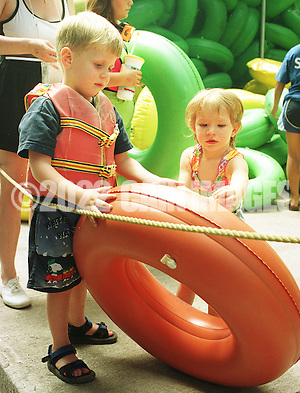 Children choose an inner tube at Bucks County River Country along the Delaware River in Tinicum, Pennsylvania. (Photo by William Thomas Cain/Cain Images) (William Thomas Cain)