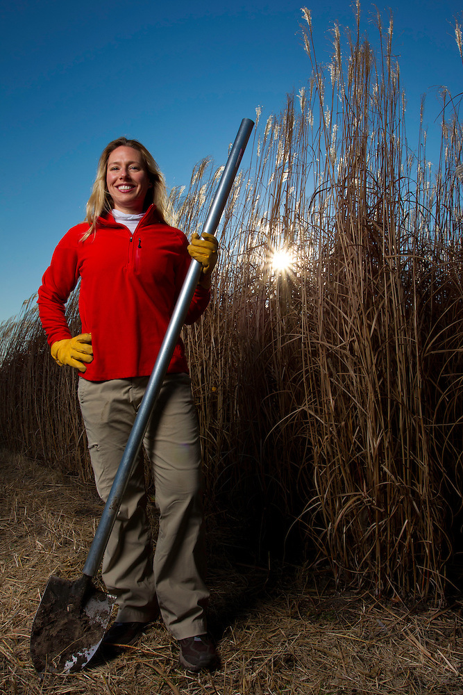 Dr. Emily Heaton is an Assistant Professor of Agronomy focusing on the biomass crop production and physiology at Iowa State University. While pursuing her doctorate in Crop Sciences at the University of Illinois, she pioneered research comparing the biomass production of Miscanthus and switchgrass in the United States, research that indicated Miscanthus could produce 250% more ethanol than corn, without requiring additional land. (Christopher Gannon)