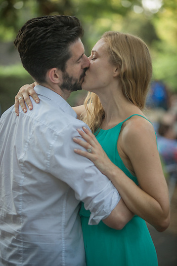 Chelsea Sheridan with her soon to be husband, Sean, at the Calistoga Concert in the Park. (Clark James Mishler)