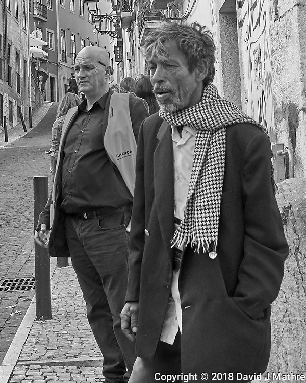 Movie Director. Morning Street Photography in Lisbon. Image taken with a Leica CL camera and 23 mm f/2 lens. (DAVID J MATHRE)