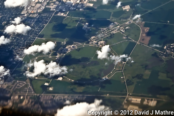 FermiLab From 35K Feet. Flying from Denver, Colorado to Newark, New Jersey. Image taken with a Nikon D300 and 18-200 mm VR lens (ISO 200, 62 mm, f/5, 1/2000 sec). (© 2008 David J Mathre)