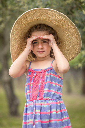 Five year old Calistoga resident Naomi Golm at Vincent Arroyo Vineyard (Clark James Mishler)