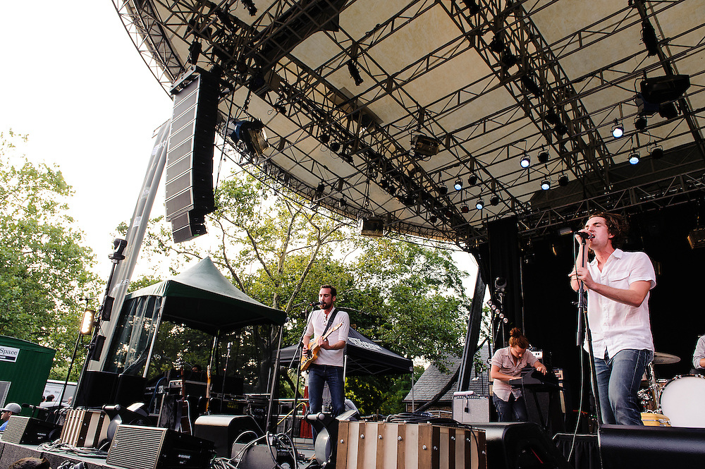 Photos of the band The Apache Relay performing at Central Park Summerstage, NYC. July 16, 2012. Copyright © 2012 Matthew Eisman. All Rights Reserved. (Photo by Matthew Eisman/WireImage)