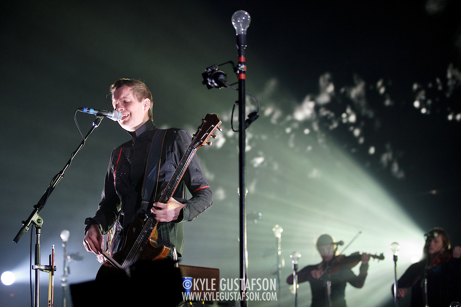 FAIRFAX, VA - March 24th, 2013 -  Jonsi  (left) of Sigur Ros performs at the Patriot Center in Fairfax, VA on the opening date of their 2013 North American tour.  The band will hit 15 cities in North America touring behind their 2012 album, Valtari. (Photo by Kyle Gustafson/For The Washington Post) (Kyle Gustafson/For The Washington Post)
