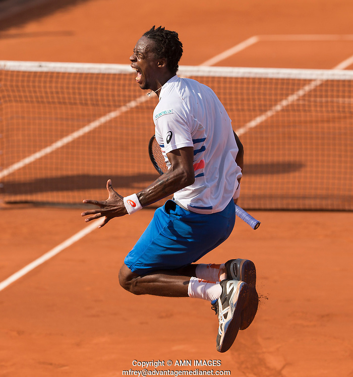 GAEL MONFILS (FRA) Tennis - French Open 2014 -  Toland Garros - Paris -  ATP-WTA - ITF - 2014  - France  31st  May 2014.  © AMN IMAGES (FREY/FREY- AMN Images)