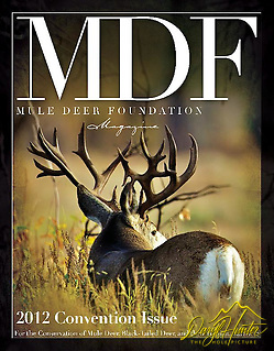 Giant Non-typical Mule Deer Buck on Cover of Mule Deer Foundation Magazine, photo by Daryl L. Hunter. (Daryl Hunter)