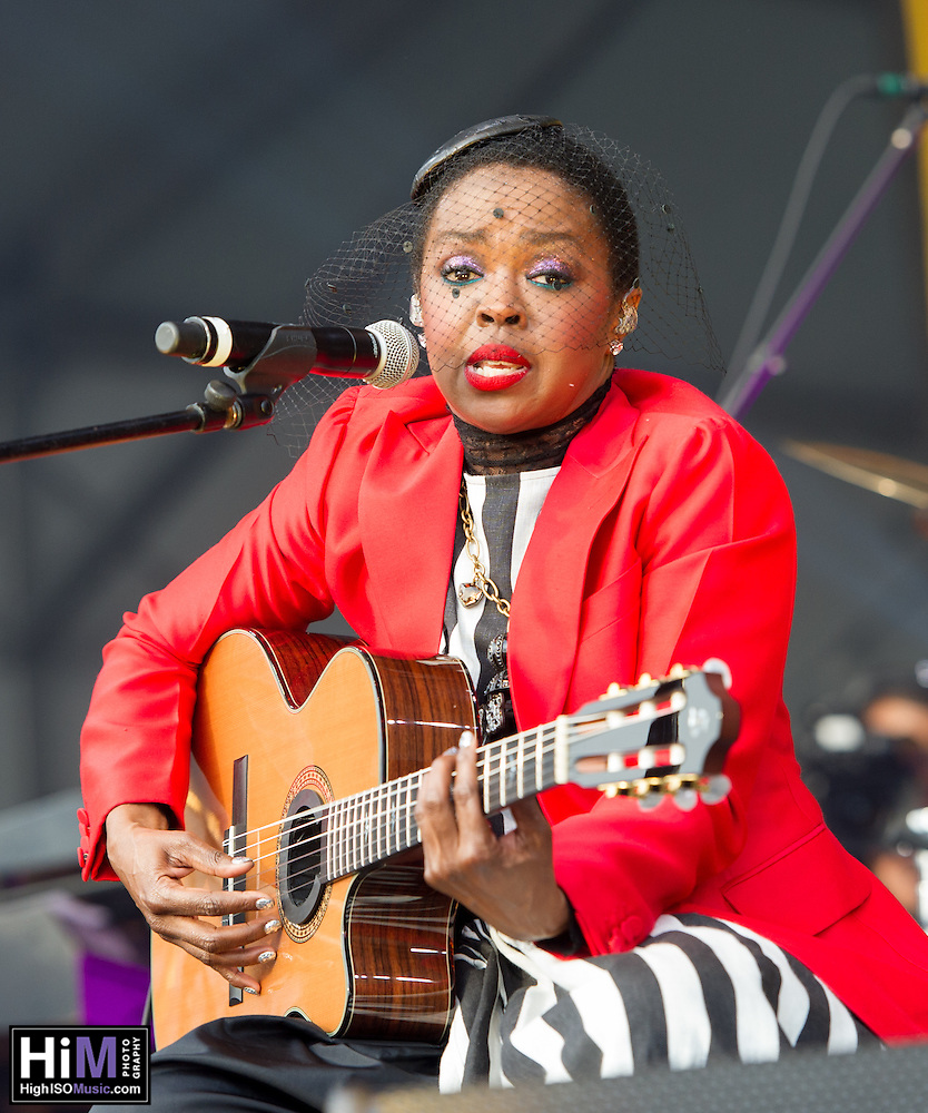 Lauryn Hill performs at Jazz Fest 2016. (HIGH ISO Music, LLC)