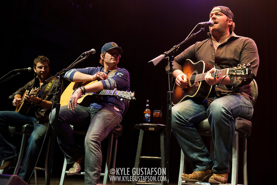 SILVER SPRING, MD- February 7th, 2013 - Brett Eldredge, Jerrod Niemann and Lee Brice perform at the 98.7 WMZQ I Heart Country Concert benefitting the American Heart Association at the Fillmore Silver Spring in Silver Spring, MD.  The show also featured a performance from Kelleigh Bannen. ( Photo by Kyle Gustafson/For The Washington Post) (Kyle Gustafson/For The Washington Post)