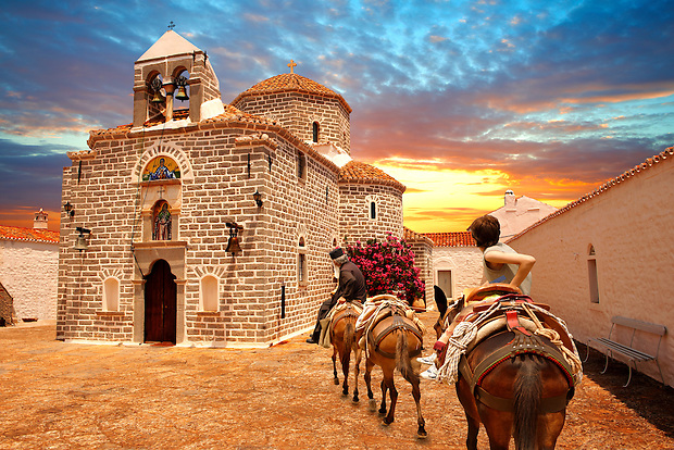 Greek Orthodox Monastery of the Profitis Ilias, Hydra, Greek Saronic Islands (Paul Williams)
