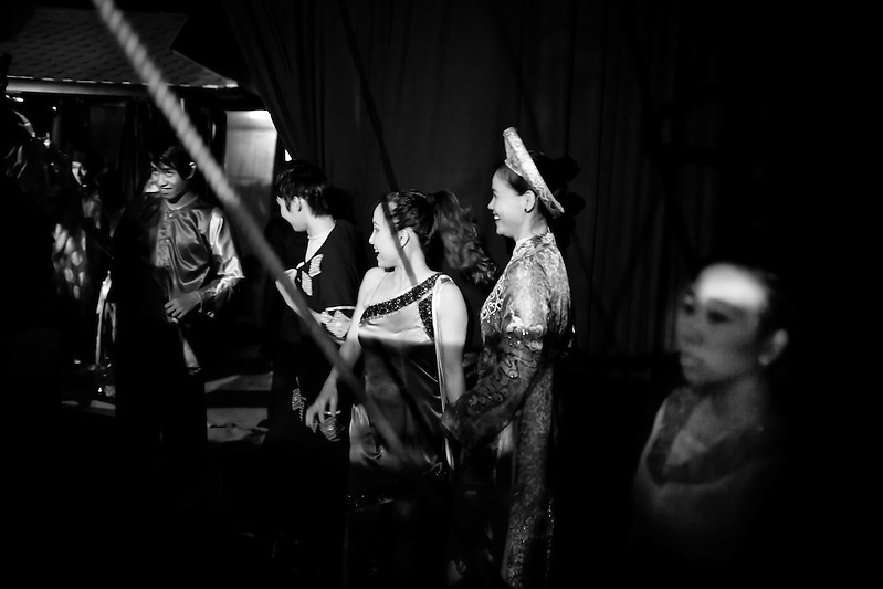Behind the scenes at the Xin Chao! Circus in Ho Chi MInh City, Vietnam. (Quinn Ryan Mattingly)