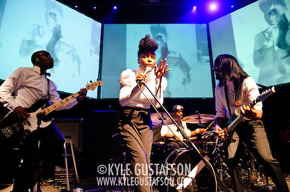 WASHINGTON, D.C. - SEPTEMBER 13th, 2010: Janelle Monae opens for Of Montreal at the 9:30 Club. She is currently touring behind her debut album, The ArchAndroid.  (Photo by Kyle Gustafson/For The Washington Post) (Photo by Kyle Gustafson/For The Washington Post)