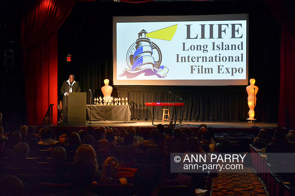 Bellmore, New York, USA. July 21, 2016. At podium, actor KEVIN BROWN (Dot Com in 30 Rock) once again is host at the19th Annual Long Island International Film Expo Awards Ceremony, LIIFE 2016, held at the historic Bellmore Movies. LIIFE was called one of the 25 Coolest Film Festivals in the World by MovieMaker Magazine. (Ann Parry/Ann Parry, ann-parry.com)