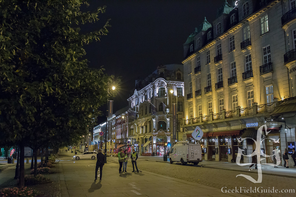 As Oslo prepares to sleep, workers prepare for the festivities of a marathon. (Warren Schultz)
