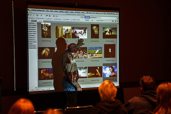 Mark Murray and Bryan Farley teach a Photography Portfolio Workshop at the 2012 Spring National Student Journalism Convention in Seattle, Washington. (Bryan Farley)