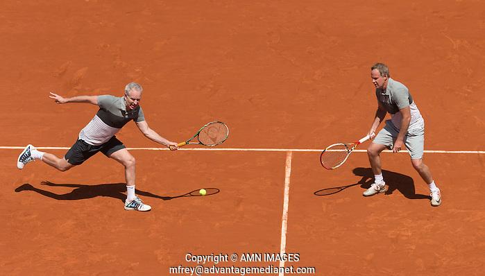 JOHN MCENROE (USA), PATRICK MCENROE (USA) Tennis - French Open 2014 -  Roland Garros - Paris -  ATP-WTA - ITF - 2014  - France -  7th June 2014.  © AMN IMAGES (FREY/FREY- AMN Images)