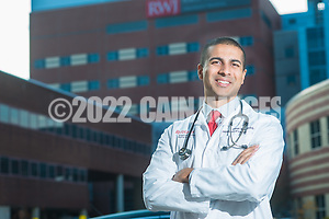 Dr. Aakash Shah poses for a photograph outside Robert Wood Johnson Hospital Wednesday, November 16, 2016 in New Brunswick, New Jersey. (Photo by William Thomas Cain/Cain Images for Ursinus College) (William Thomas Cain/Cain Images)