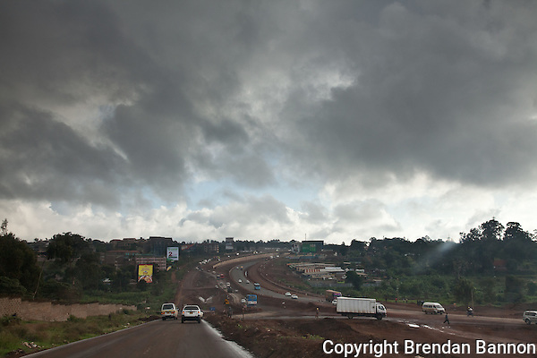 The new road from Naiorbi to Thika (Photographer: Brendan Bannon)